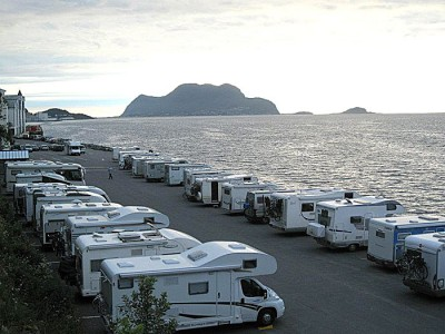 The motorhome parkings will have very different facilities. Here is Ålesund. Foto: Knut Randem.