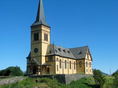 Lofoten katedralen. Norges største trekirke. Foto: Knut Randem.