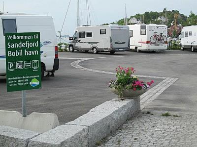 Sandefjord bobilparkering. Foto: Knut Randem